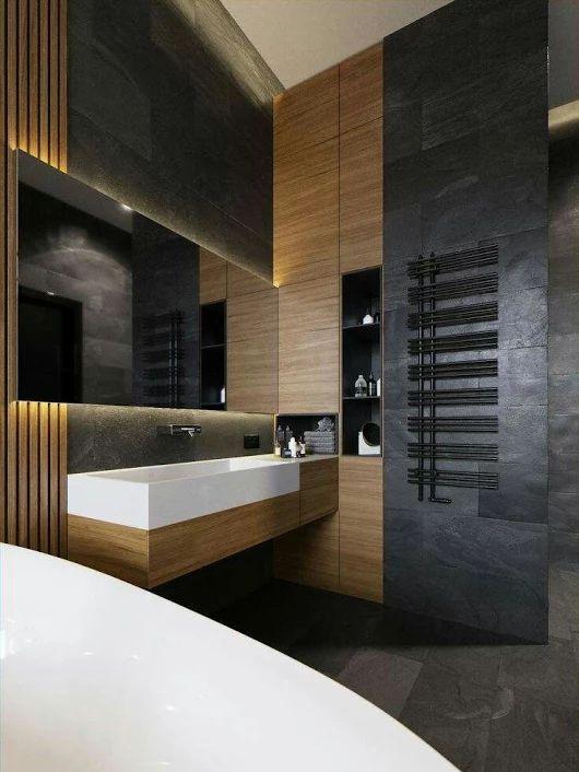 Foto Toilet SuitesWall Hung ToiletBathroom DesignsBathroom IdeasBathroom InteriorContemporary BathroomsInterior ArchitectureToiletsPorcelain Sink