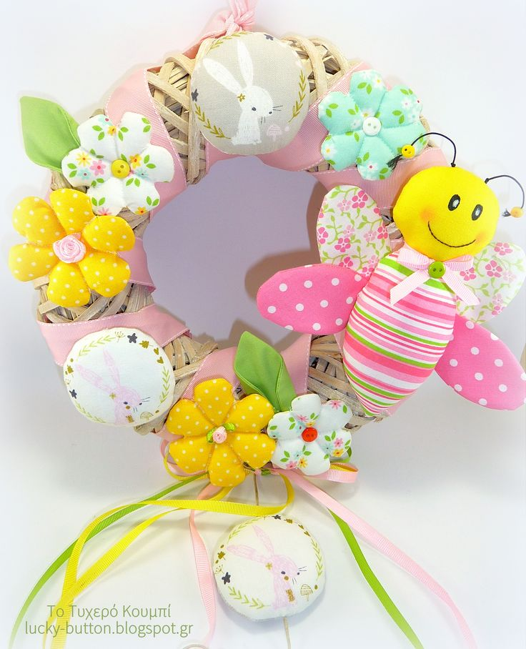 Wooden wreath decoration, Happy 1st of May!