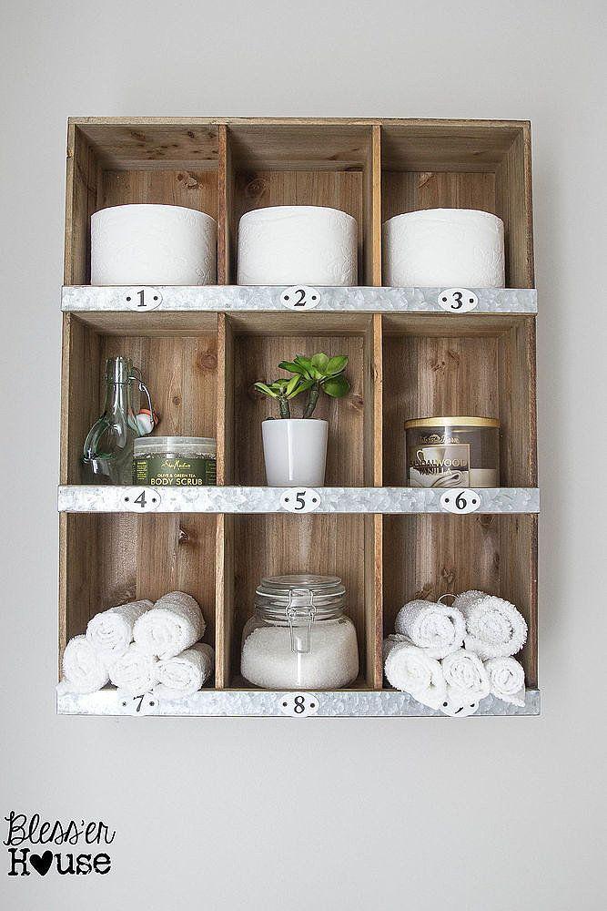 New Cubby Shelf Hanging Shelf Bathroom Wall Cabinet Shelves Wall Shelf