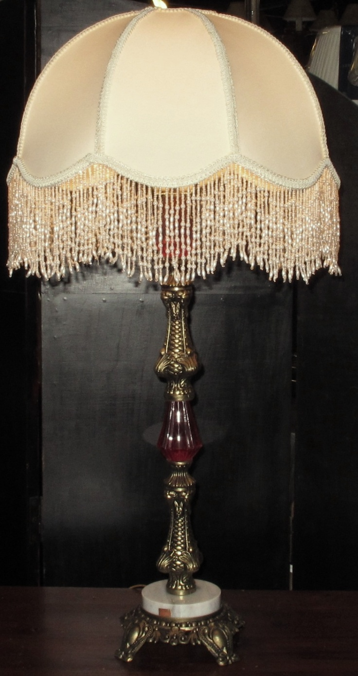 536 best lampshades images on pinterest victorian lamps vintage antique table lamps geotapseo Image collections