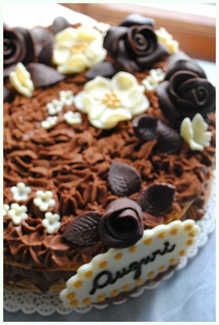 Torta Diplomatica con mousse al cioccolato fondente all'arancia e crema alla vaniglia bourbon
