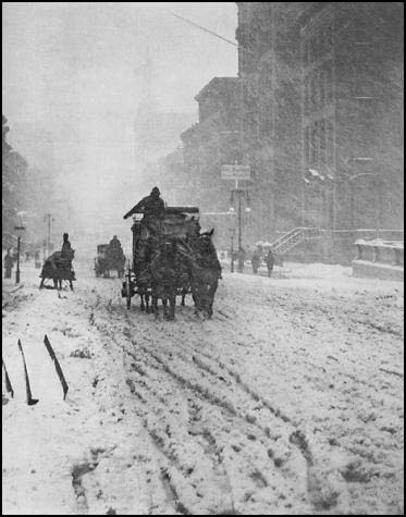 "One of my favorite Alfred Stieglitz photographs, of NYC in the snow.                                    ""Alfred Stieglitz, the son of a wool merchant, was born in Hoboken, New Jersey, on 1st January, 1864. Stieglitz was sent to Europe to complete his education and was studying at the Berlin Polytechnic in 1883 when he discovered photography. He switched from mechanical engineering to photo-chemistry and began taking photographs. Stieglitz took a keen interest in the history of photography..."