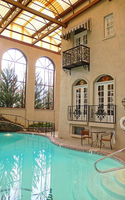 Indoor pool... Not that I could ever afford it but a girl can dream
