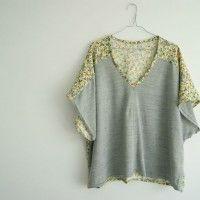 La blouse kimono bicolore