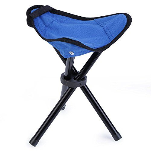 Camping Furniture - San Tokra Mini Portable Outdoor Folding Tripod Stool Camping Fishing Picnic Chair Small *** Check out the image by visiting the link.