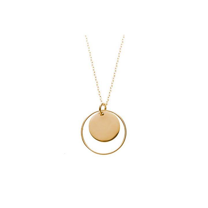 Collier anneau et médaille plaqué or (67 €) en vente sur L'Atelier d'Amaya                                                                                                                                                                                 Plus
