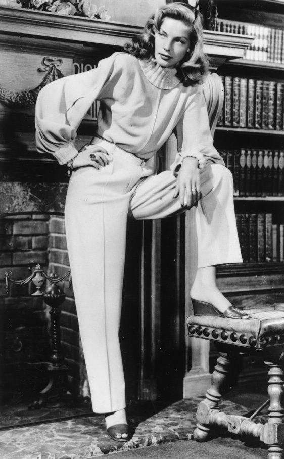 Tendencia decada de los 40 segun Miu Miu: Lauren Bacall