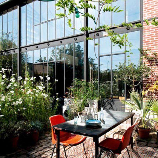 Une terrasse champêtre en milieu urbain