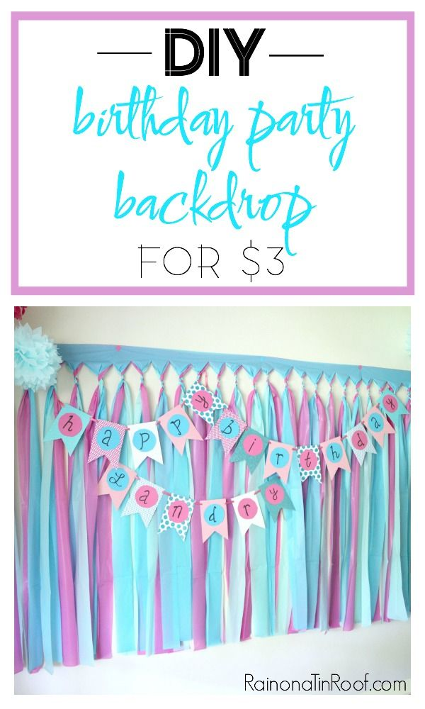 This DIY Party Backdrop is perfect for not only birthday parties but also for a photo booth! Such a great party decoration idea! DIY Party Background