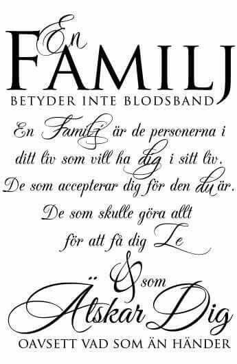 Familj betyder inte alltid blodsband