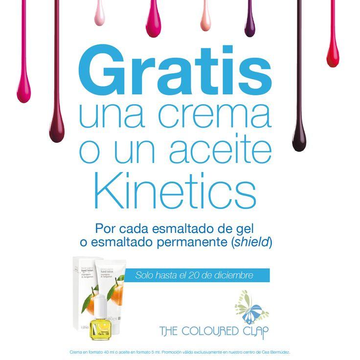 hasta el 20 diciembre 2014, en The Coloured Clap de Cea Bermúdez, 38 Madrid, cada vez que te hagas unas uñas de gel o shiel gratis una crema de manos o aceite de cutículas