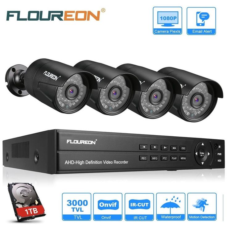 CCTV Security Camera Systems Motion Detection Night Vision Outdoor Remote Access #FLOUREON