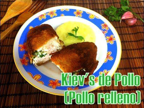 Receta de Pollo al Kiev (Pollo relleno) - YouTube