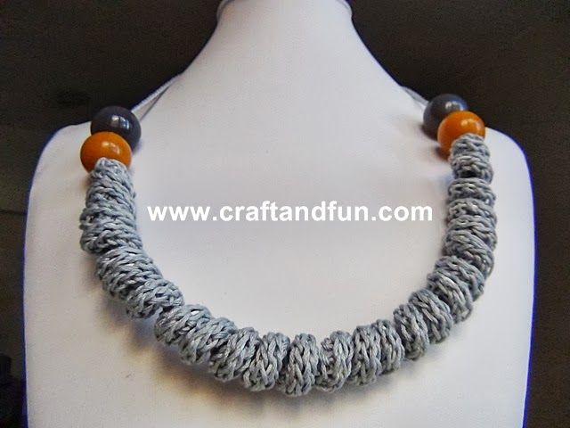 Riciclo Creativo - Craft and Fun: Tutorial Collane con il Tricotin e Riciclo Creativo