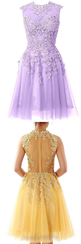 Lace Homecoming Dresses, Short Prom Dresses, Modest Party Dress, Simple Graduation Dresses, Cheap Formal Dresses