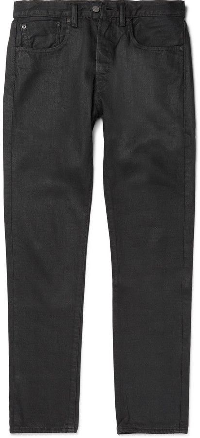 Levi's 501 CT Slim-Fit Tapered Coated Selvedge Denim Jeans
