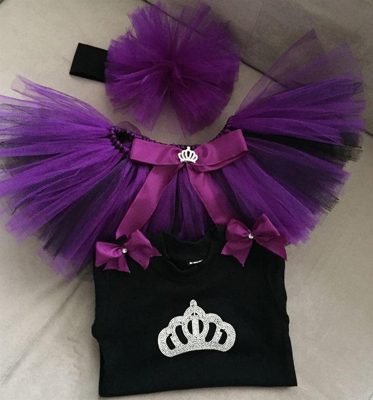 Tütü Etek Prenses Takım- Mor/Siyah Sipariş için kuzenlerinsihirlidokunusu@gmail.com