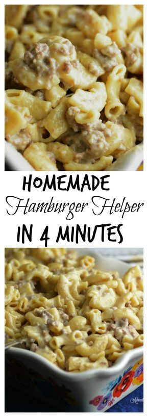 Instant Pot Hamburger Helper in 4 minutes. Used 5 slices American cheese and heavy whipping cream. Increase cooking time. Pasta wasn't done enough