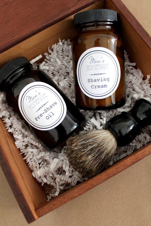 DIY Men's Shave Kit Homemade shaving cream, Mens shaving