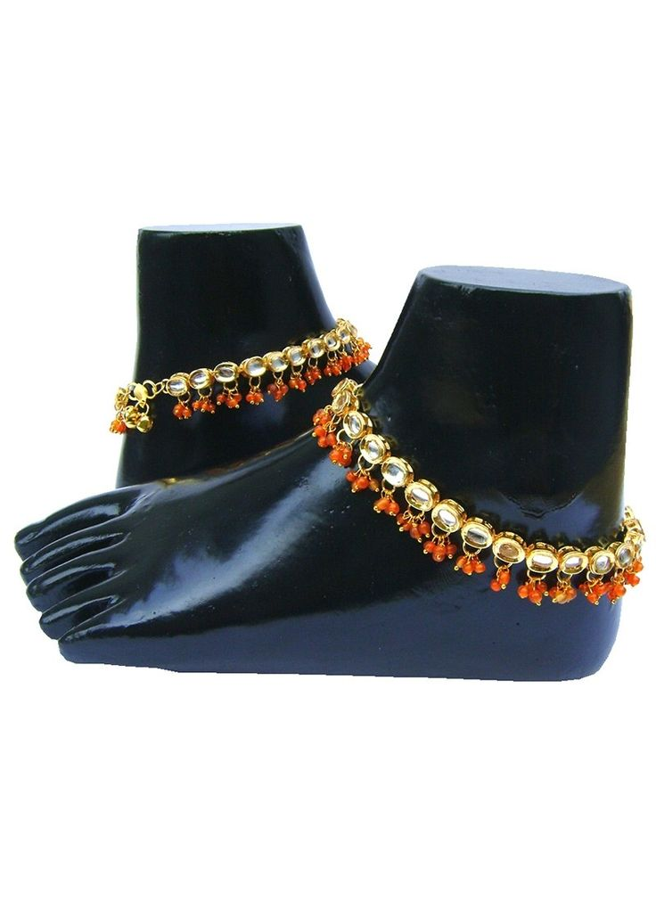 Shop Online Orange #Anklet @Chennaistore.com