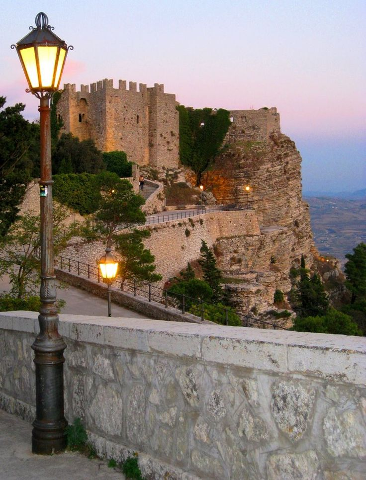 Erice  Province of Trapani , Sicily region Italy