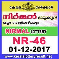 1.12.2017 : Nirmal Lottery NR-46 Result