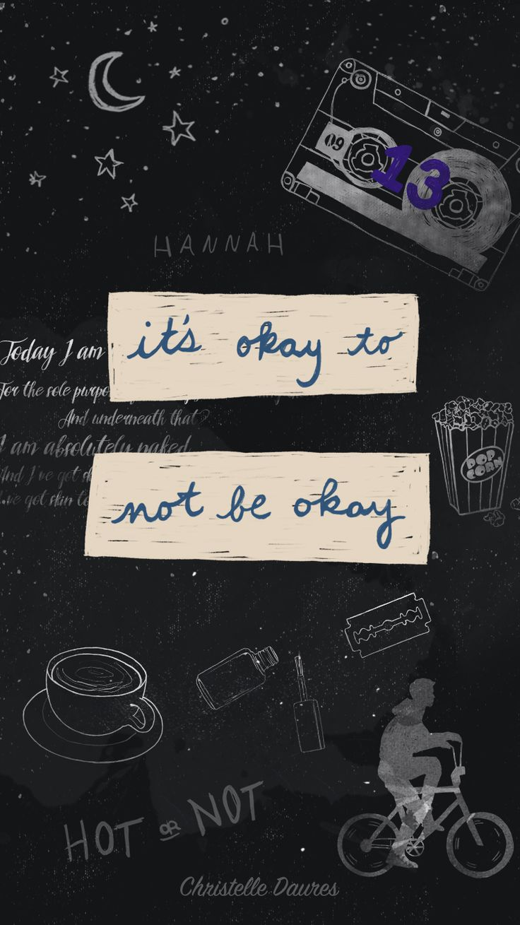 13 reasons Why – fond d'écran – Crecre - wallapaper - iphone - smartphone - hannah baker - mixtape - its okay to not be okay