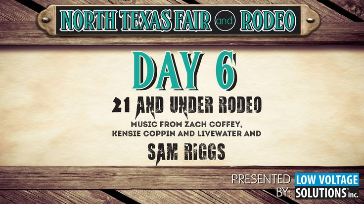 It's rock meets country on Wednesday of the fair, when the wild Texas kid Sam Riggs shows up to kick the action into high gear!