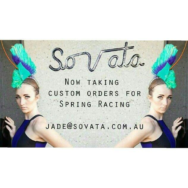 #SOVATA now taking custom orders for #springracing  #millinery #zerowaste #racingfashion #racingstyle #fascinator #designer #designermillinery #fashfest #sovatafashion