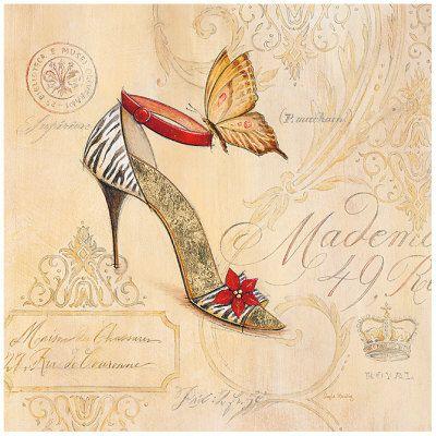 Varieté de Láminas para Decoupage: Zapatos...