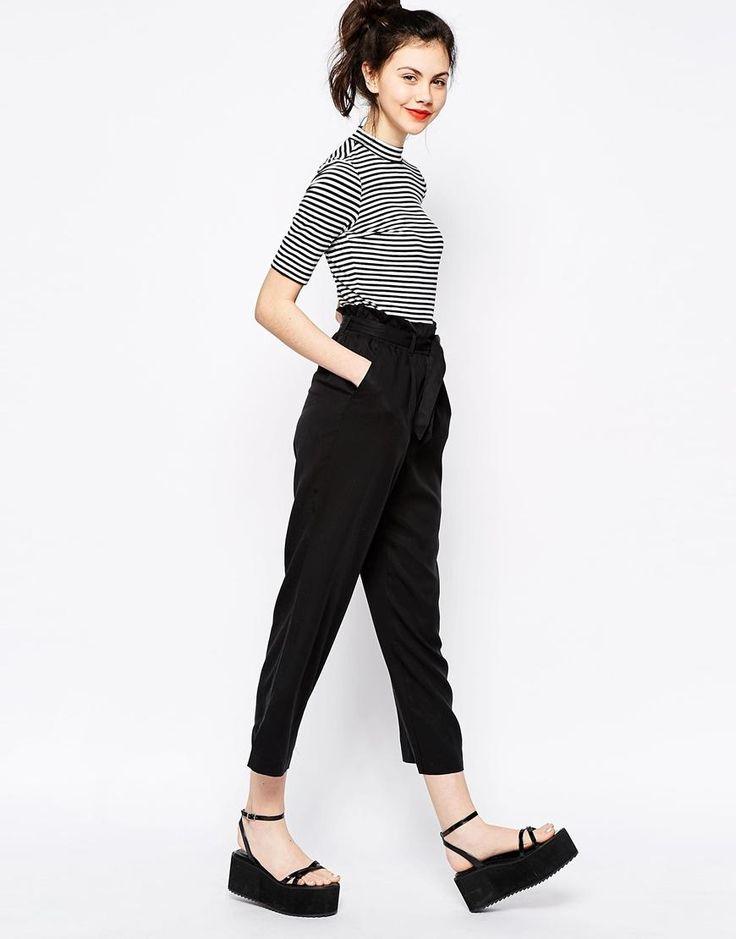 Monki | Monki Wide Legged Trousers at ASOS