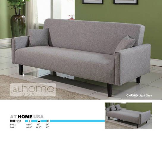 Oxford Light Grey Sofa Bed by At Home USA. Also has matching love seat and chair.