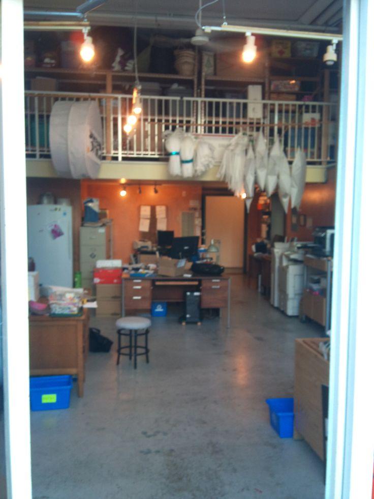 BEFORE Pre-Retro-fit + Make-over of Art  + Design Studios/Offices for non-profit Arts + Cultural Organization, Public Dreams Society, East Vancouver.