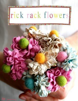 rick rack flowers ~ no link just inspiration