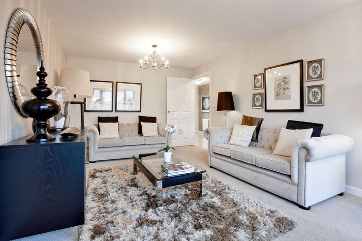 The living room in The Stockham at Letcombe Fields in Wantage | Bovis Homes