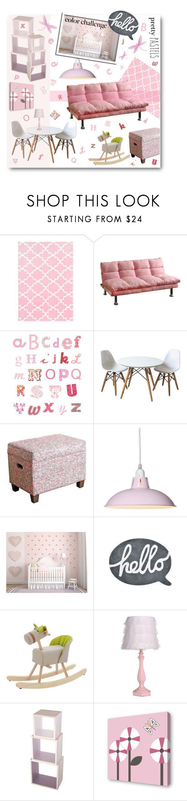 """Color Challenge: Pretty Pastels"" by anitadz ❤ liked on Polyvore featuring interior, interiors, interior design, home, home decor, interior decorating, Unitex International, Lilipinso, Dot & Bo and Sebra"