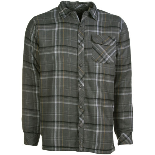 O 39 neill triumph sherpa gray plaid long sleeve flannel for Button up flannel shirts