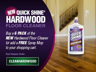 When You Buy A 6 Pack Of Our NEW Hardwood Floor Cleaner