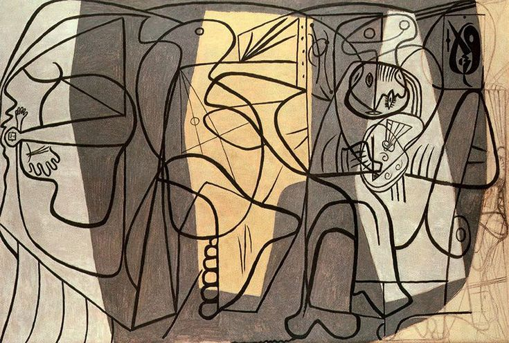 Artist and his model - Pablo Picasso  1926