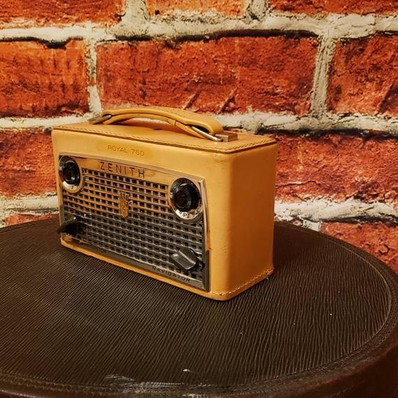 Vintage Zenith Radio Bluetooth Conversion Portable Bluetooth Radio Speaker Boombox Repurposed Radio Converted To Bluetooth Speaker Bluetooth Radio Bluetooth Speaker Bluetooth