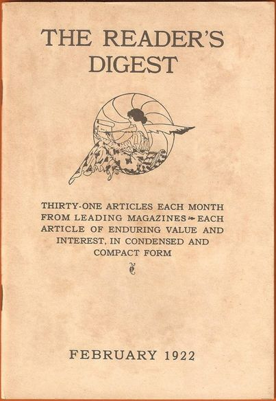 February 1922 cover of Reader's Digest (from Wikipedia)