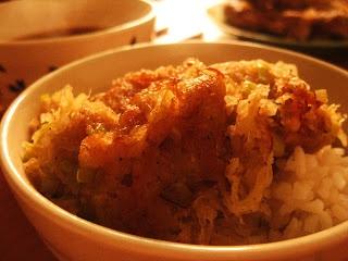Ziemniaki z imbirem ~ Kurczak w cieście na ostro