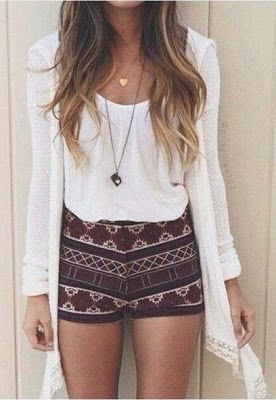 Fashion trends | Boho styling, aztec shorts