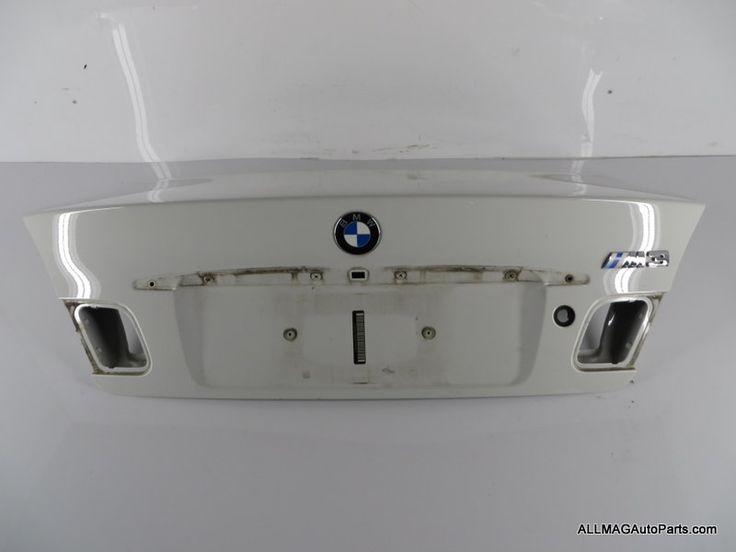 2000-2006 BMW 3 Series M3 Coupe Trunk Lid Alpine White 57 41627065260 E46