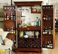 Budget Locking Liquor Cabinet