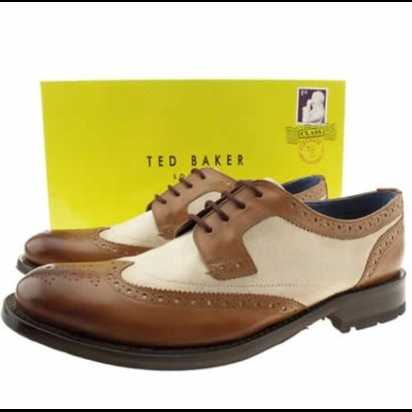 ✨NEW✨Ted Barker men causal shoeSALE (tonite) unused, unworn leather and canvas upper, leather and textile lining. Brogue detailing, medallion toe, rubber sole. Ted Baker men Cassius 2 Oxford shoe. Your husband/boyfriend will finally say oh wow what an great found on PM Hunny  Ted Baker Shoes Flats & Loafers
