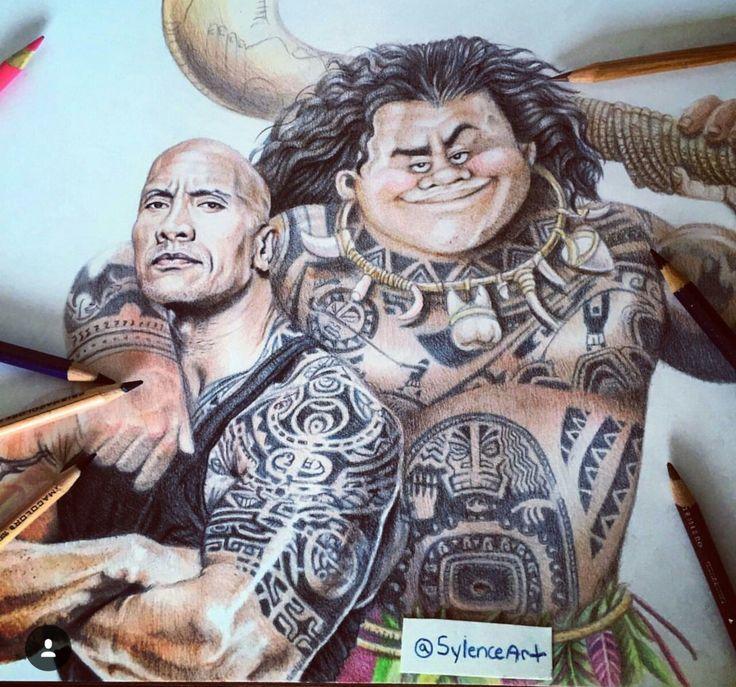 Awesome fanart done by SylenceArt on instagram. Dwayne Johnson voices the new upcoming character Maui from the movie Moana. Coming to theaters November of this year!