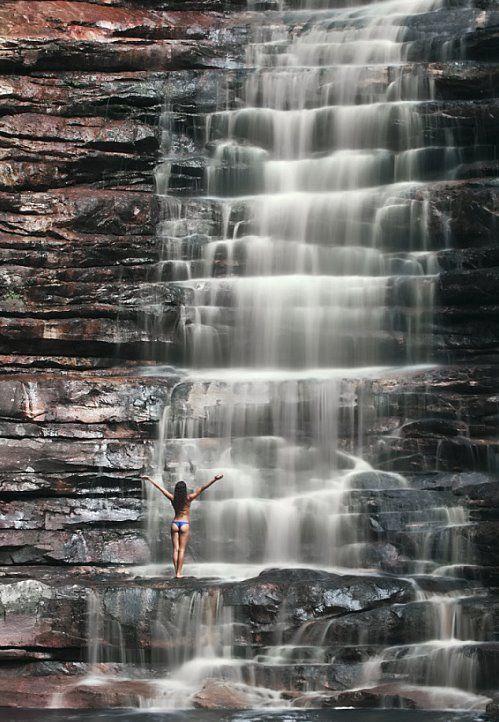 Cachoeira dos Cristais, Alto Paraíso de Goiás, Brasil.