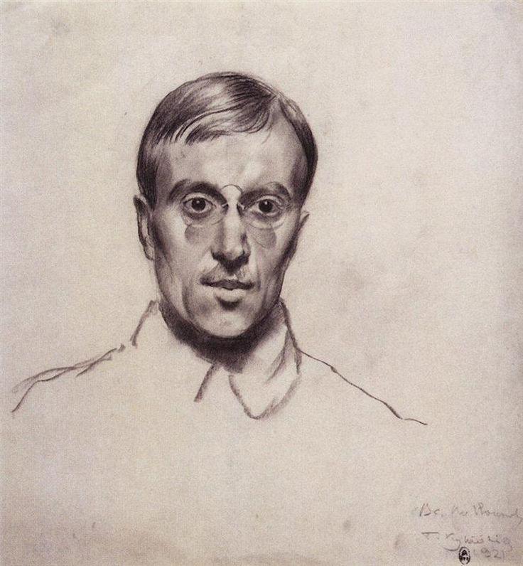 Portrait of Vsevolod Voinov - Boris Kustodiev, 1921