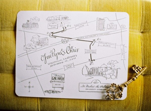 wedding invitation - map